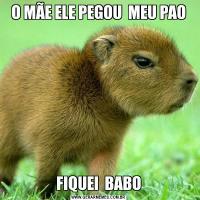 O MÃE ELE PEGOU  MEU PAOFIQUEI  BABO