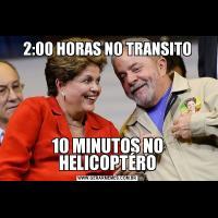 2:00 HORAS NO TRANSITO10 MINUTOS NO HELICOPTÉRO
