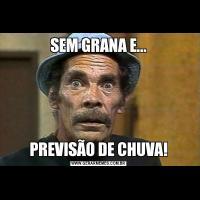 SEM GRANA E...PREVISÃO DE CHUVA!