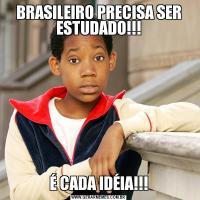 BRASILEIRO PRECISA SER ESTUDADO!!!É CADA IDÉIA!!!