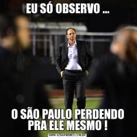 EU SÓ OBSERVO ...O SÃO PAULO PERDENDO PRA ELE MESMO !