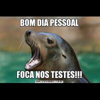 BOM DIA PESSOALFOCA NOS TESTES!!!