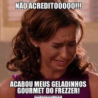 NÃO ACREDITOOOOO!!!ACABOU MEUS GELADINHOS GOURMET DO FREZZER!