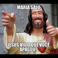 MARIA SALUJESUS VIU O QUE VOCÊ APAGOU.