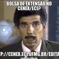 BOLSA DE EXTENSÃO NO CENEX/ECI?HTTP://CENEX.ECI.UFMG.BR/EDITAIS/