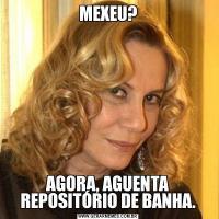 MEXEU?AGORA, AGUENTA REPOSITÓRIO DE BANHA.
