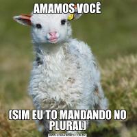 AMAMOS VOCÊ(SIM EU TO MANDANDO NO PLURAL)