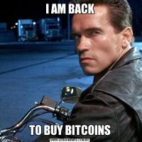 I AM BACKTO BUY BITCOINS