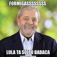 FORMIGASSSSSSSS LULA TA SOLTO BABACA