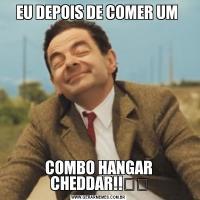 EU DEPOIS DE COMER UM COMBO HANGAR CHEDDAR!!✌️