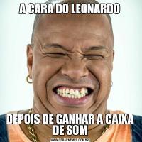 A CARA DO LEONARDODEPOIS DE GANHAR A CAIXA DE SOM