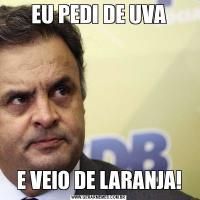 EU PEDI DE UVAE VEIO DE LARANJA!