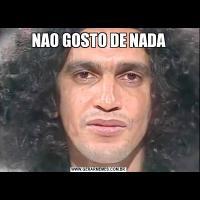 NAO GOSTO DE NADA