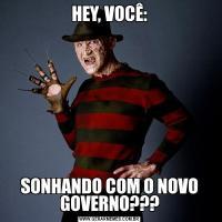 HEY, VOCÊ:SONHANDO COM O NOVO GOVERNO???