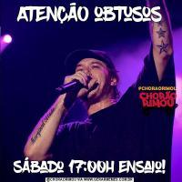 ATENÇÃO obtusosSábado 17:00h Ensaio!