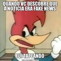 QUANDO VC DESCOBRE QUE A NOTICIA ERA FAKE NEWSFUI TAPEANDO
