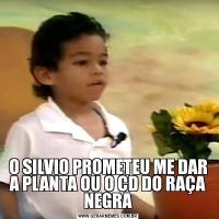 O SILVIO PROMETEU ME DAR A PLANTA OU O CD DO RAÇA NEGRA
