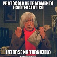 PROTOCOLO DE TRATAMENTO FISIOTERAÊUTICOENTORSE NO TORNOZELO
