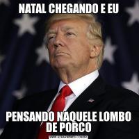 NATAL CHEGANDO E EUPENSANDO NAQUELE LOMBO DE PORCO