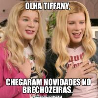 OLHA TIFFANY, CHEGARAM NOVIDADES NO BRECHOZEIRAS.