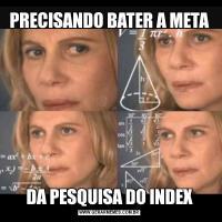 PRECISANDO BATER A METADA PESQUISA DO INDEX