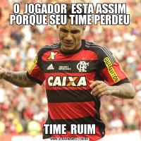 O  JOGADOR  ESTA ASSIM PORQUE SEU TIME PERDEUTIME  RUIM
