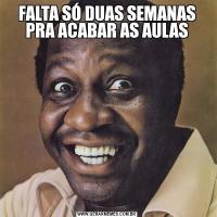 FALTA SÓ DUAS SEMANAS PRA ACABAR AS AULAS