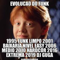 EVOLUCAO DO FUNK1995 FUNK LIMPO 2001 BAIXARIA NIVEL EASY 2006 MÉDIO 2010 HARDCÓR 2016 EXTREMA 2019 DJ GUGA
