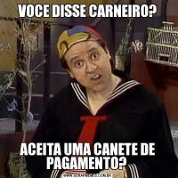 VOCE DISSE CARNEIRO?ACEITA UMA CANETE DE PAGAMENTO?