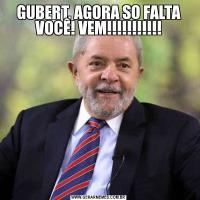 GUBERT, AGORA SO FALTA VOCÊ! VEM!!!!!!!!!!!