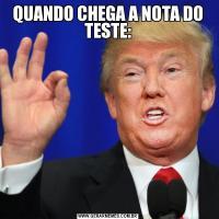 QUANDO CHEGA A NOTA DO TESTE: