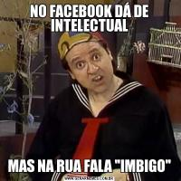 NO FACEBOOK DÁ DE INTELECTUALMAS NA RUA FALA