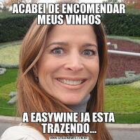 ACABEI DE ENCOMENDAR MEUS VINHOSA EASYWINE JA ESTA TRAZENDO...