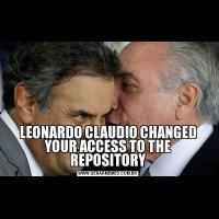 LEONARDO CLAUDIO CHANGED YOUR ACCESS TO THE REPOSITORY