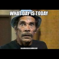 WHAT DAY IS TODAY