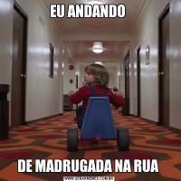 EU ANDANDO DE MADRUGADA NA RUA