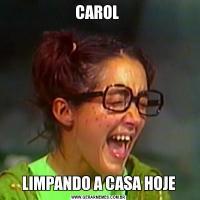 CAROL LIMPANDO A CASA HOJE