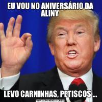 EU VOU NO ANIVERSÁRIO DA ALINYLEVO CARNINHAS, PETISCOS ...
