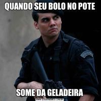 QUANDO SEU BOLO NO POTESOME DA GELADEIRA