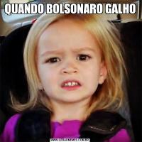 QUANDO BOLSONARO GALHO