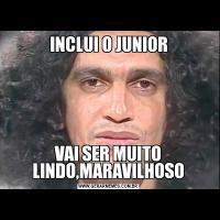 INCLUI O JUNIORVAI SER MUITO LINDO,MARAVILHOSO