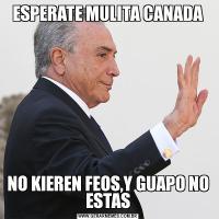 ESPERATE MULITA CANADANO KIEREN FEOS,Y GUAPO NO ESTAS