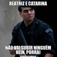 BEATRIZ E CATARINANÃO VAI SUBIR NINGUÉM HEIN, PORRA!