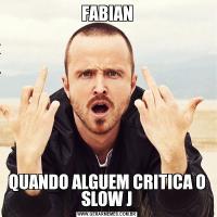 FABIANQUANDO ALGUEM CRITICA O SLOW J