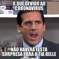 O QUE DEVIDO AO CORONAVIRUSNÃO HAVERÁ FESTA SURPRESA PARA A TIA BELLE