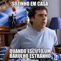 SOZINHO EM CASAQUANDO ESCUTO UM BARULHO ESTRANHO