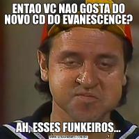 ENTAO VC NAO GOSTA DO NOVO CD DO EVANESCENCE?AH, ESSES FUNKEIROS...