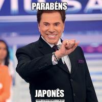 PARABÉNS JAPONÊS