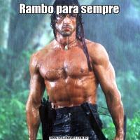 Rambo para sempre