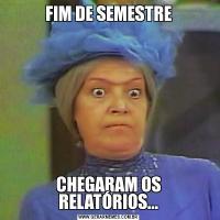 FIM DE SEMESTRECHEGARAM OS RELATÓRIOS...